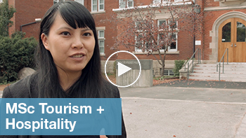 Link to YouTube video for MSc Tourism and Hospitality