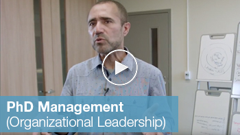 Link to YouTube video for PhD Management organizational leadership field
