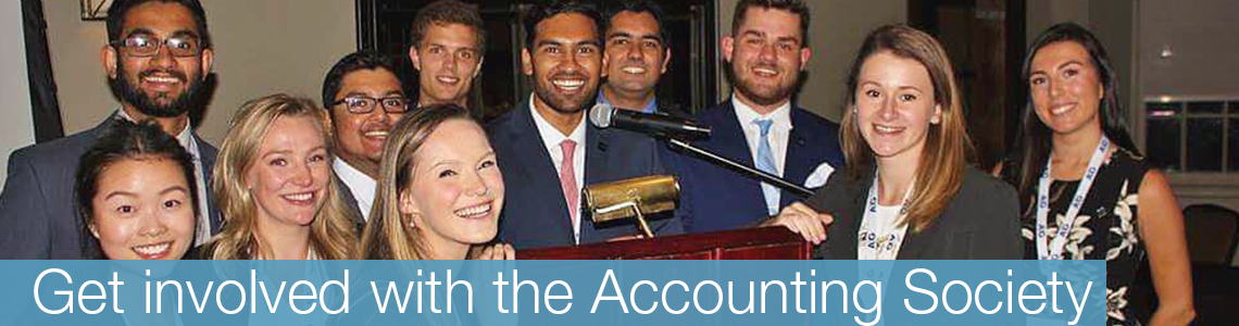 Get involved with the accounting society