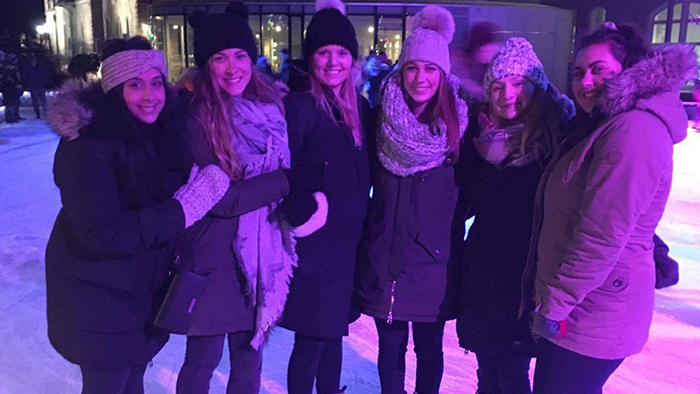 Albina and friends skate in downtown Guelph