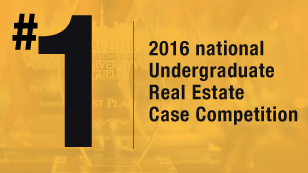 Number one 2016 undergraduate real estate case competition