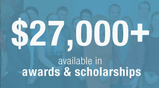 $27,000 plus available in awards and scholarships