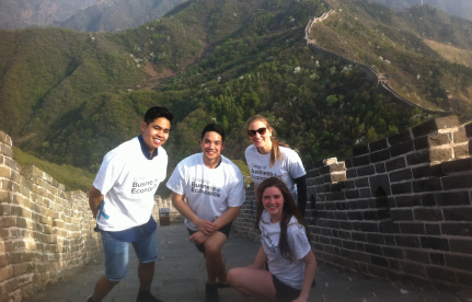 Guelph business students in China as part of winning ESKA Water case competition