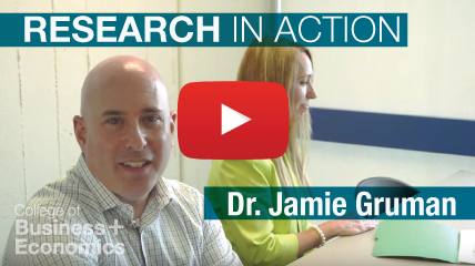 Link to Research in Action Video for Jamie Gruman