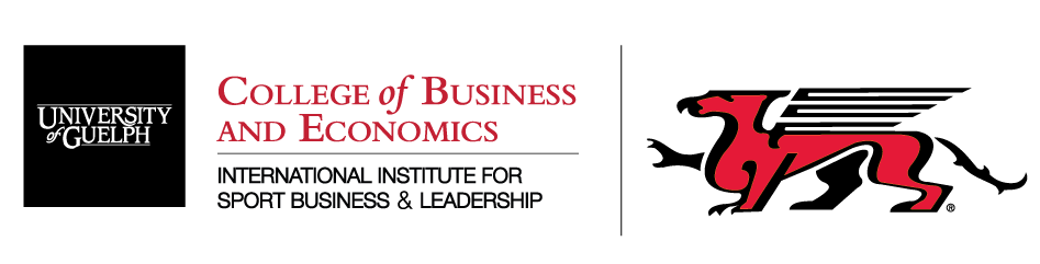 logo for the international institute for sport business and leadership at the university of guelph