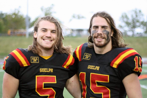 Photo John Rush with Gryphons Football teammate