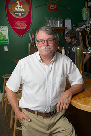 A picture of Bob Desautels at the Woolwich Arrow Pub