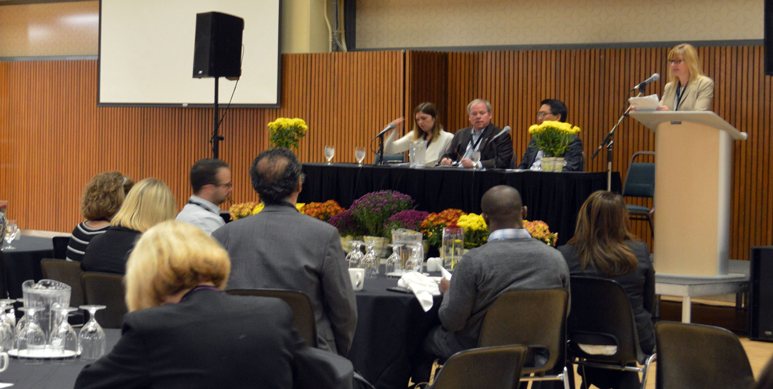 panel discussion at event