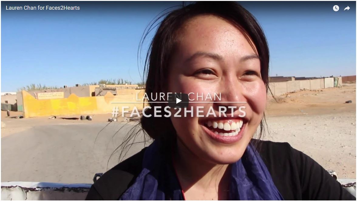 youtube screenshot of Lauren Chan's application to Faces2Hearts