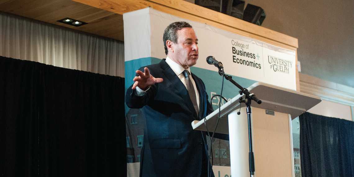 David Frum at the University of Guelph