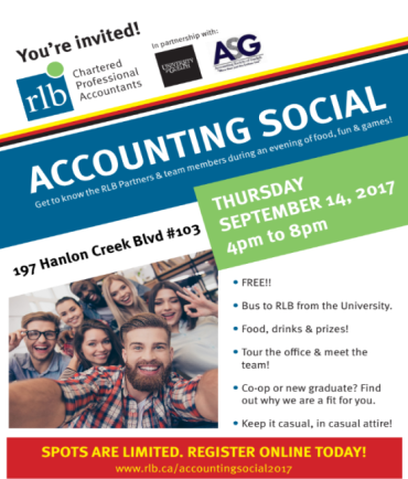 Accounting social flyer