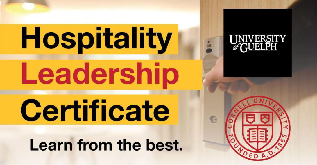 Hospitality Leadership Certificate learn from the best