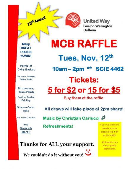 MCB United Way Raffle 2019