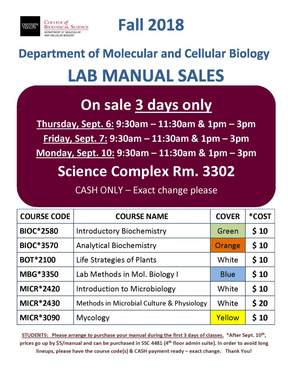 MCB Lab Manual Sales