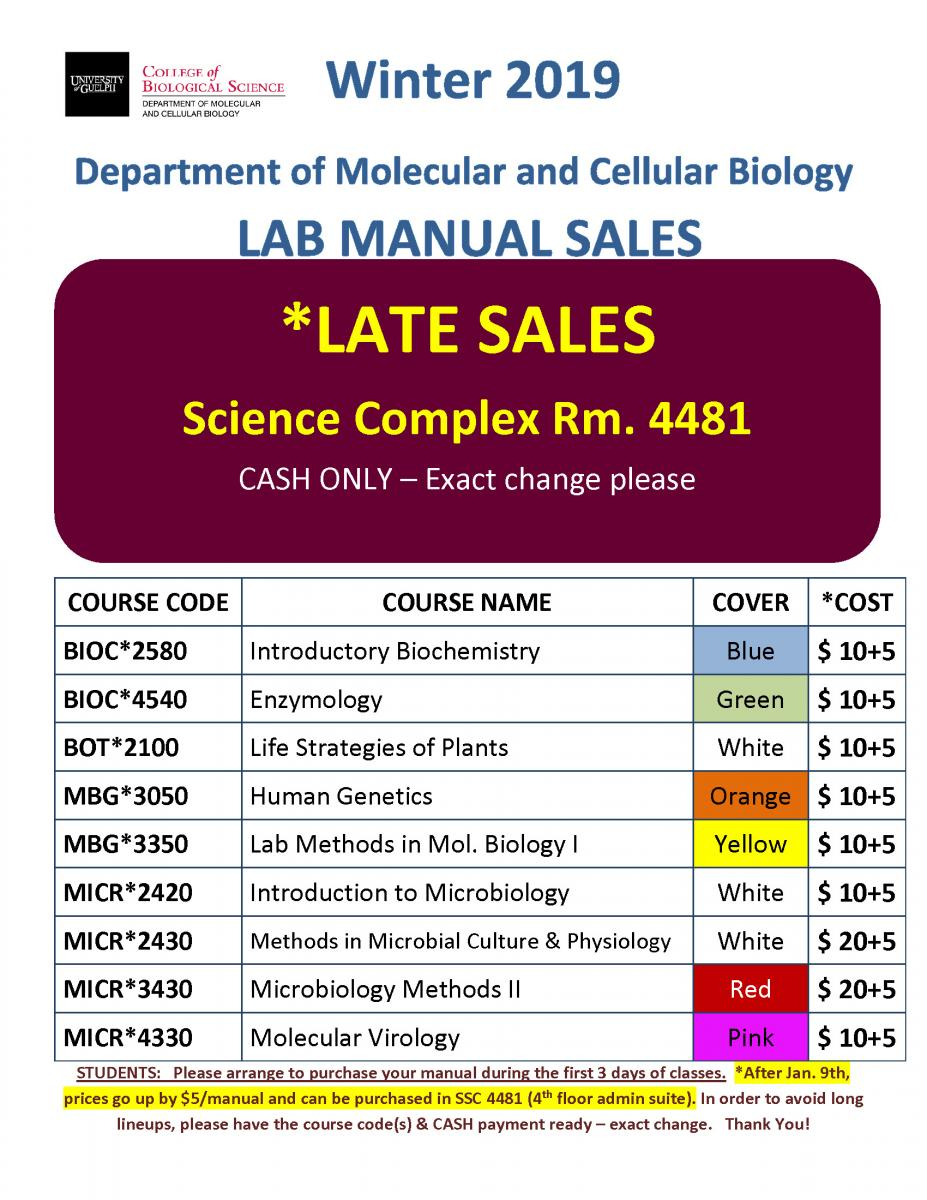 Late MCB Lab Manual Sales