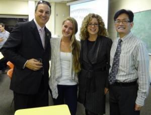 Photo of Charlie Pillitter, Mary Claire Bass, Julia Christensen Hughes, and Lefa Teng