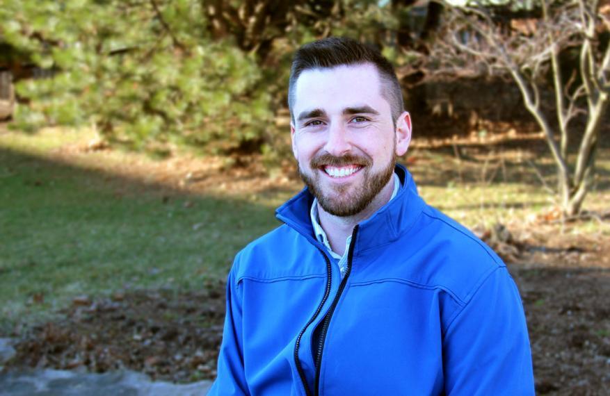 Donald Skinner ouside wearing blue coat