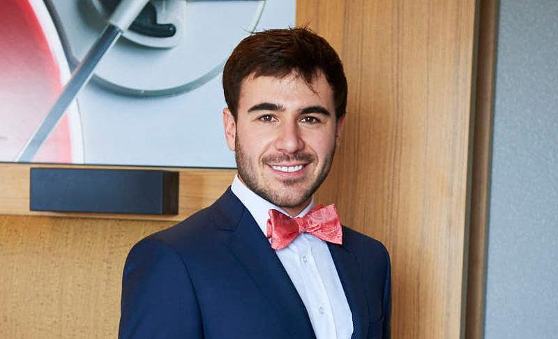 Joshua Nasielski in suit and bow tie