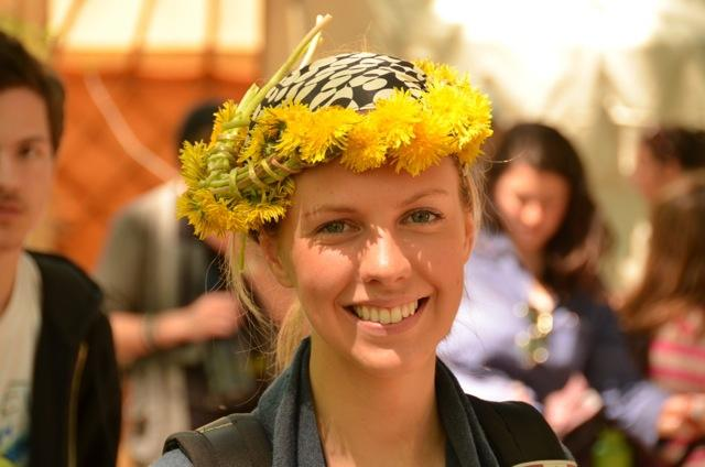 Vanessa wearing a yellow floral headwrap
