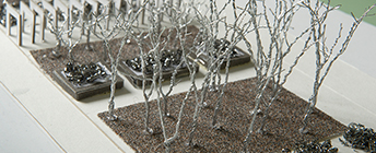 A landscape architecture project made from various metal.