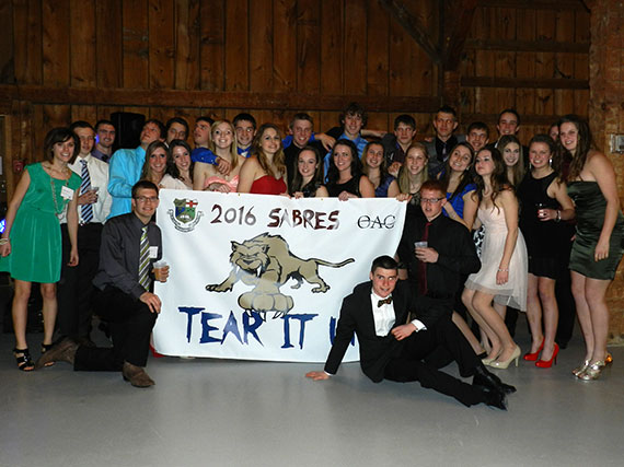 Class of 2016 with their banner