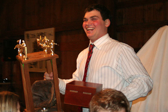 Justin Piercey receives the Aggie Spirit Award
