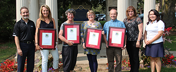 Recipients of the 2017 faculty awards.
