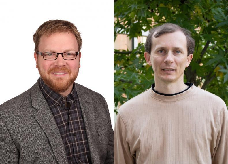 Composite of Michael Steele and Dan Tuplan headshot photographs