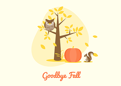 goodbye fall poster
