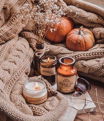 pumpkins on a blanket