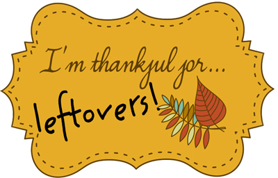 thankful for leftovers logo