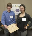 Justin Maxim and Angelica Rigas with Soy Board