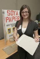 Sabrina Haerle with Soya paper