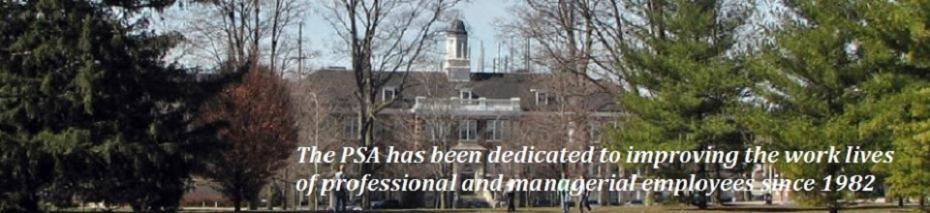 University of Guelph Professional Staff Association Dedicated to improving the work lives of Professional and Managerial employees since 1982