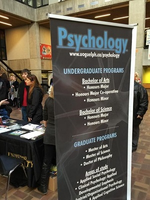 Psychology banner at program display