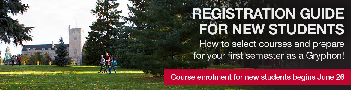 The Registration Guide for new students is a guide on selecting courses and preparing for the fall semester. Course enrolment for new students begins June 26.