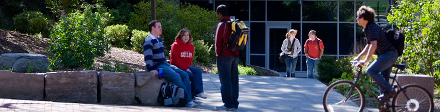 Students outside of the Science Complex