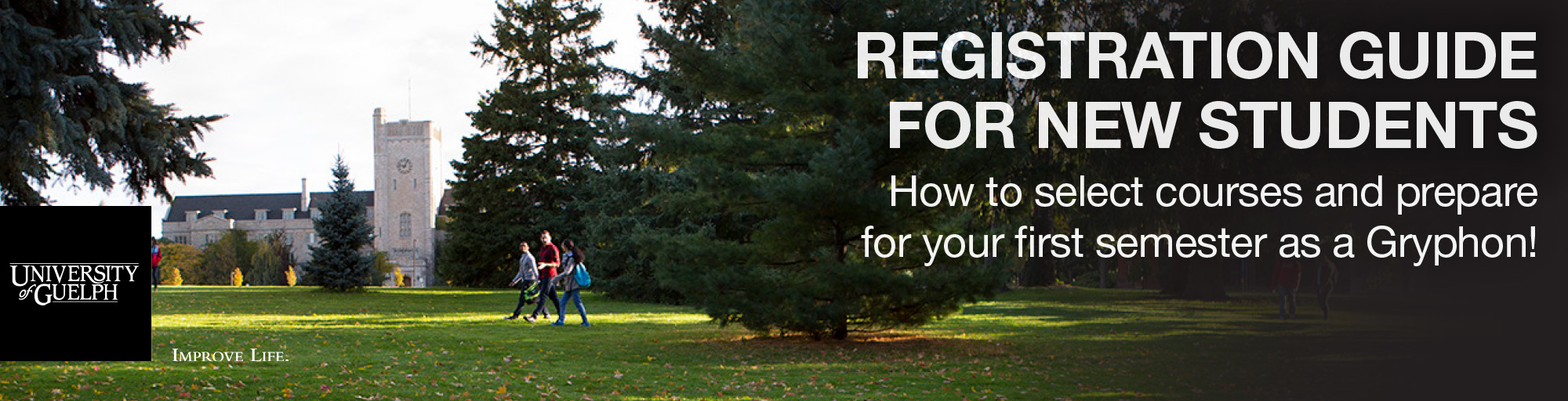 The Registration Guide for New Students contains information about how to select courses and prepare for your first semester as a Gryphon