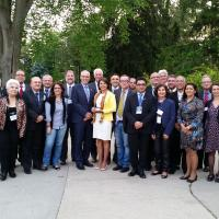 Group shot of ABRUEM and U of G delegates at the University of Guelph.
