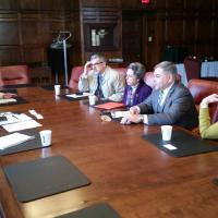 meeting in President's Board Room