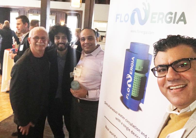 FloNergia team pictured at tradeshow