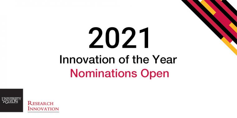 Stylized Text: 2021 Innovation of the Year Nominations Open