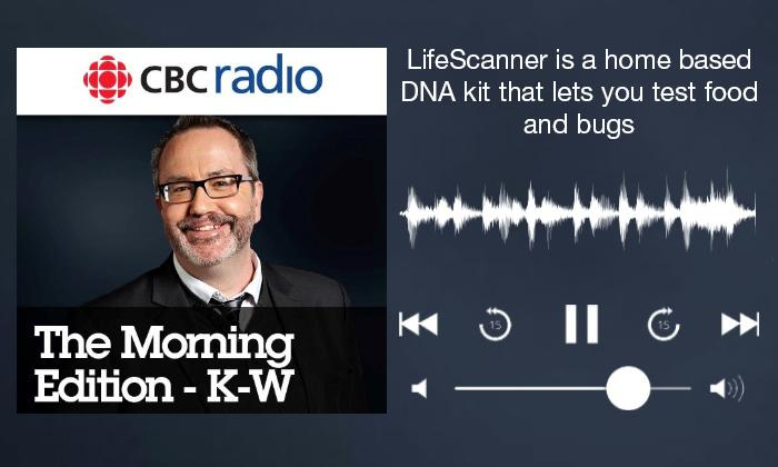 CBC Radio 'The Morning Edition - K-W' podcast playing LifeScanner interview