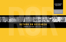 Cover of Return on Research Annual Report 2013-2014