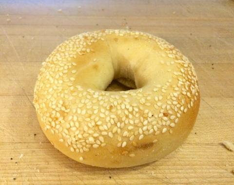 Photo of a bagel