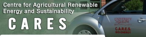 Centre of Agricultural Renewable Energy and Sustainability banner featuring a bio-energy car