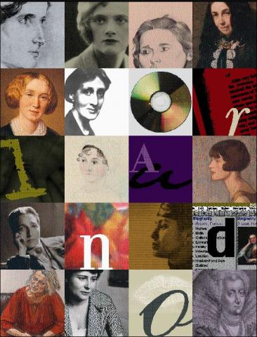 Collage of writers in the Orlando Project