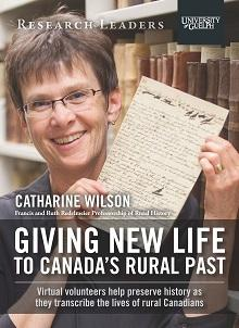 Catharine Wilson holds a rural journal