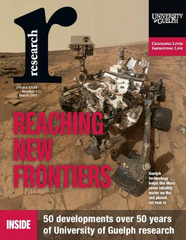 Cover of Research Magazine showing the Mars Rover
