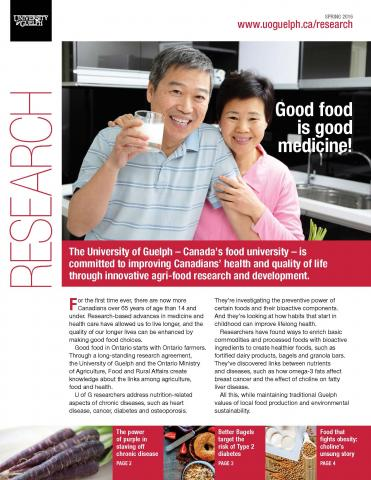 Cover of good food is good medicine showing a couple drinking milk